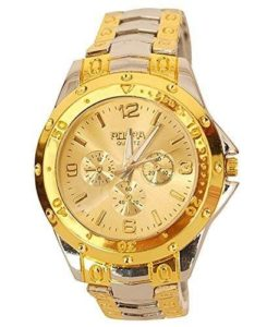 BLUTECH Golden Silver Analog Watch For Men