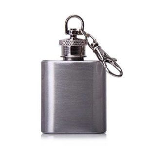 Generic Portable Stainless Steel Hip Flask Key Chain