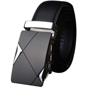 Satyam Kraft Mens Black Pu Leather Belt
