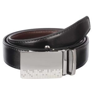 Urban alfami Mens Vegan Leather Black Belt