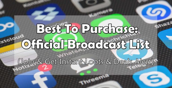 Best To Purchase Broadcast List