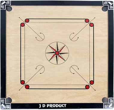 J D Sports Carrom Board