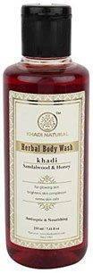 Khadi Natural Sandal and Honey Body Wash, 210ml