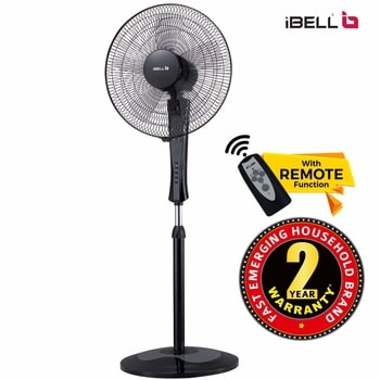iBELL WINDP10 Pedestal Fan 5 Leaf with Remote